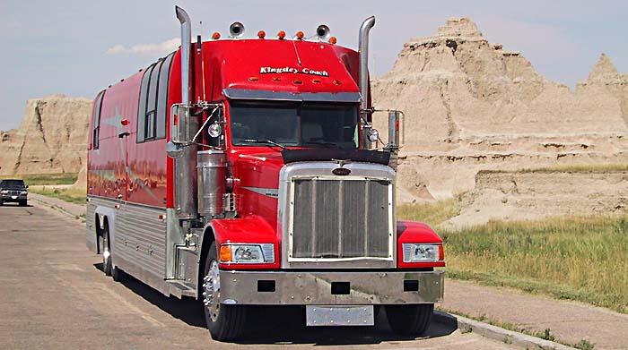 83 semi trailer rv conversion for sale marmon for Peterbilt motor coach for sale